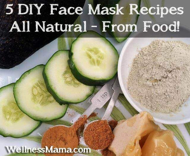 Five DIY Face Mask Recipes from food