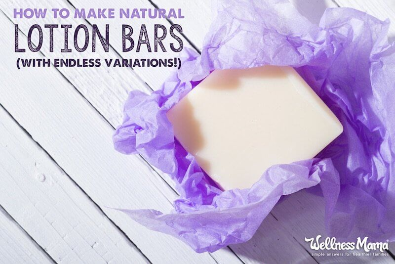 Easy recipe to make your own natural lotion bars