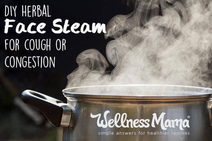 How to do an herbal face steam for cough and congestion